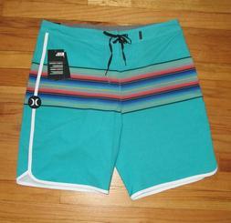 "Hurley Mens Phantom Baja Malibu Green Board Shorts 20"" Swim"