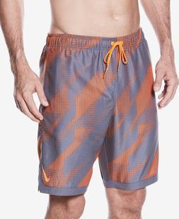 Nike mens Printed Swim Trunks/Board Short- Hyper Crimson - N