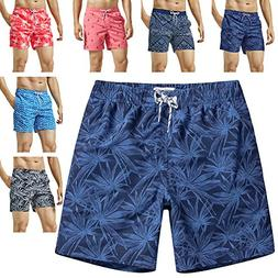 MaaMgic Mens Quick Dry Funny Swim Trunks with Mesh Lining Sw