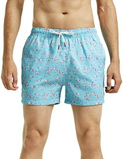 MaaMgic Mens Quick Dry Printed Short Swim Trunks with Mesh L