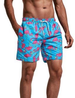 3e3a52a2a5a5d MaaMgic Mens Quick Dry Swim Trunks with Mesh Lining Flamingo. 4