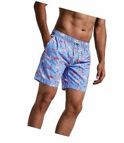 MaaMgic Mens Quick Dry Swim Trunks with Mesh Lining Flamingo