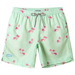 MaaMgic Mens Slim Fit Quick Dry Short Elephant Swim Trunks w