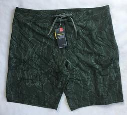 UNDER ARMOUR Mens Storm Stretch Printed Board Shorts Green 1