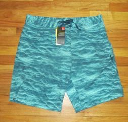 Under Armour Mens Stretch Loose Printed Green Boardshorts Sh