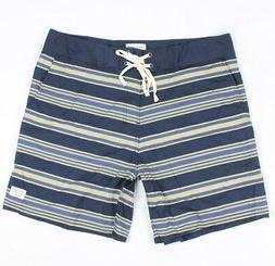 mens stripe stretch trunks boardshorts navy size