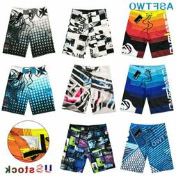 Mens Summer Loose Beach Surf  Board Shorts Sport Swim Wear T