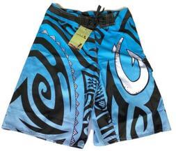 Clothin Men's Swim Board Shorts Blue Hurricane Sz 30 New
