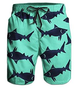 Belovecol Mens Swim Trunks Animal Graphic Novelty Cool Board