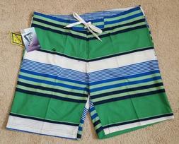 Kanu Surf Mens Swimwear Optic Stripe Board Shorts Size 38, G