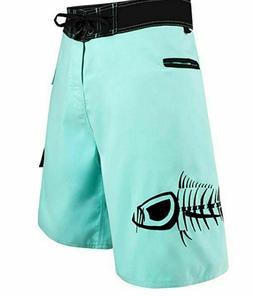 Tormenter Mens Tuna Waterman 5 Pocket Boardshorts, Seafoam,