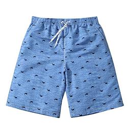 Mens Ultra Quick Dry Blue Whale Fashion Board Shorts Medium