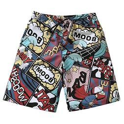 Mens Ultra Quick Dry Surfing Heroes Fashion Board Shorts 2X-