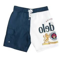 Modelo Bottle Label Men's Board Shorts Blue