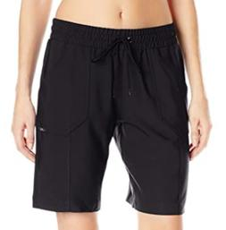 NEW JAG $52 WOMEN'S LONG BLACK BOARD SHORTS ELASTIC WAIST PO