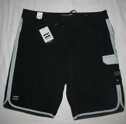 New Billabong 73 X Black White Boardshorts Swim Shorts Mens