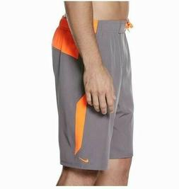"""New Nike 9"""" Volley Swim Trunks Board Shorts NESS8420 Gray Me"""