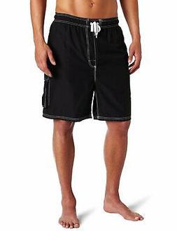 Kanu Surf NEW Black White Mens Size Small S Board Shorts Swi
