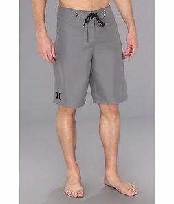 New HURLEY  board shorts solid gray One Only swim trunks 31