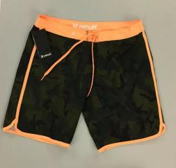 NEW Hurley Camouflage Orange Green Womens Board Shorts Bathi