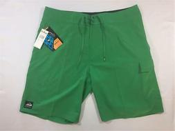 "New Quiksilver Cypher Kaimana 21"" Boardshorts Green 38 4-Way"