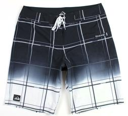 """NEW Quiksilver Electric Space 21"""" Boardshorts MENS 34 Black"""