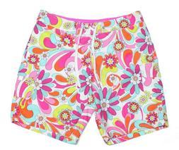 NEW Kanu Surf Imagine Board Shorts Swim Pink Floral Women's