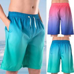 New Men Boardshorts Swimwear Swimming Bottoms Surf Trunks Su