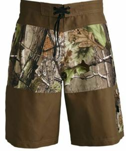 NEW Men's RealTree APG Bay Rapids Camo BoardShorts Surf Swim