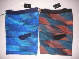 New Men's NIKE swim trunks board shorts size 36 blue or oran