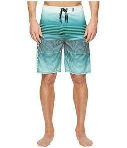 NEW! Hurley Men's 38 Clash 21″ Boardshorts Striped Atomi