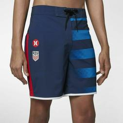"NEW Hurley Mens Phantom USA National Team Away 18"" Boardshor"