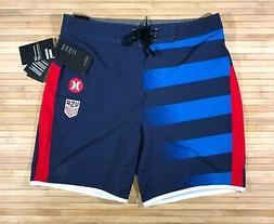 New Mens Hurley Phantom USA National Team Soccer Board Short