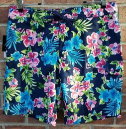 NEW Kanu Surf Misses Katya Board Shorts Size 10 Navy Blue Fl
