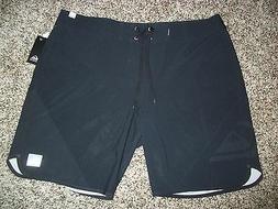 QUIKSILVER New NWT Mens Board Swim Shorts Solid Black 31 32