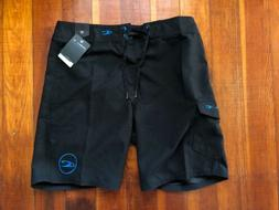 "NEW O'NEILL Boardshorts 19"" Santa Cruz Black Blue Mens 32"
