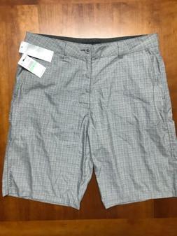 NEW O'NEILL Gray Check Hybrid Casual Board Shorts SIZE MEN'S