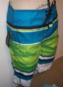 NEW O'NEILL turquoise blue green board shorts swim Santa Cru