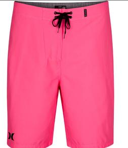 New HURLEY One Only board shorts swim trunk neon hot pink ch