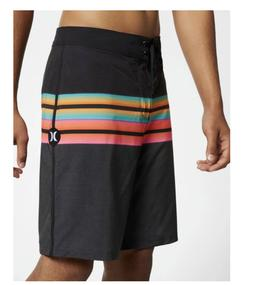 New HURLEY Phantom Solace black pink  board shorts swim trun