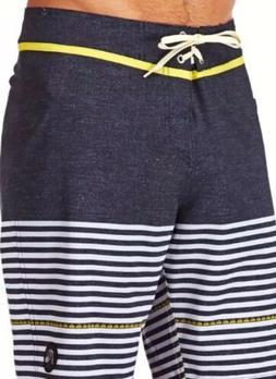 NEW Quicksilver Mens East Side Stripe UEA Boardshorts Blue W