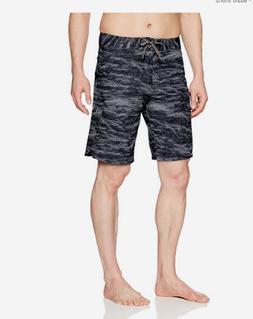 NEW Under Armour REBLEK gray black stretch board shorts swim
