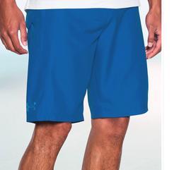 New Under Armour RIGID solid blue board shorts swim trunks 3