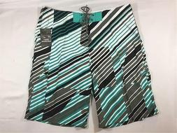 New Oakley SP 11 Allover Surf Boardshorts Men's Sheet Metal