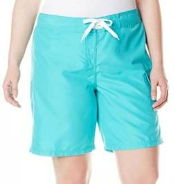 NEW Kanu Surf Marina Women's Board Swim Shorts Lagoon Size