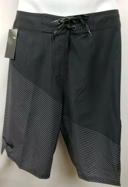 NEW NIKE SWIM Board Short BLACK/GRAY Trunks Size 34 W x 11 L