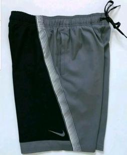 NEW Nike Swim Swimming Swimwear Trunks Board Shorts BLACK/GR