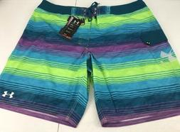 NEW Under Armour Sz. 44 Board shorts Striped Hydro Armour Sw