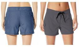 New Women's Kanu Surf Board Shorts - Navy or Slate Grey - Si