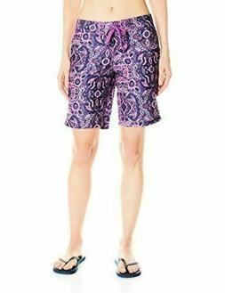 New Kanu Surf Women's UPF 50+ Bisma Swim Board Shorts Purple